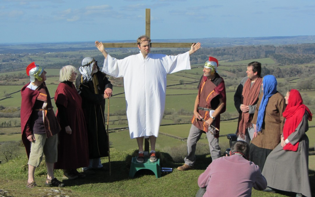 Easter story re-enacted on Brent Tor