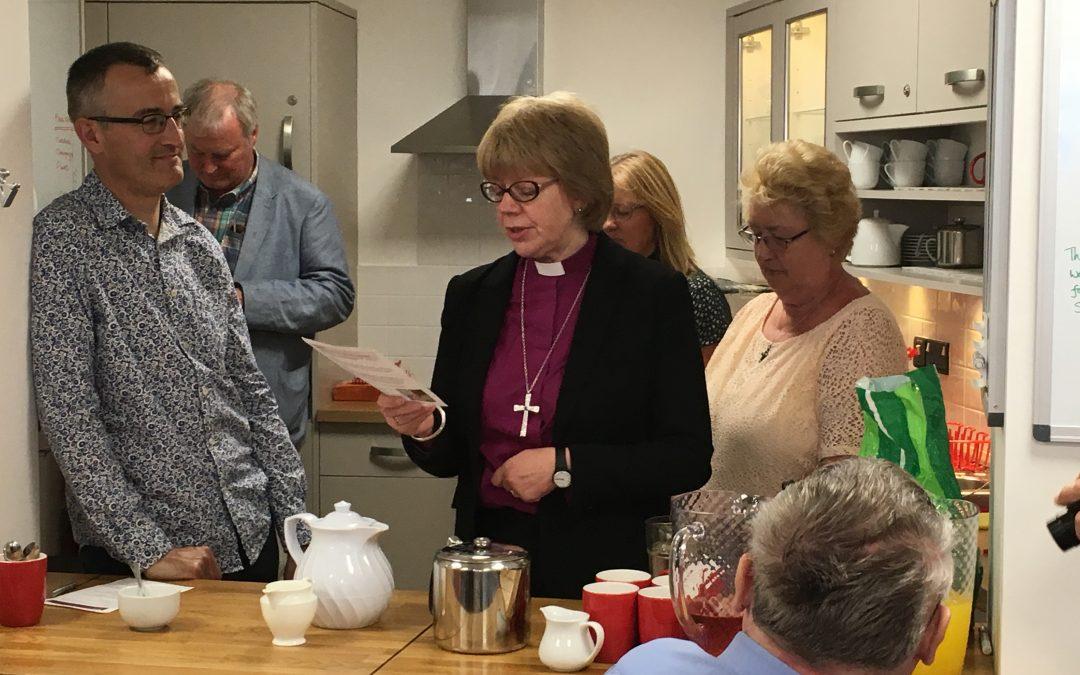"""Bishop Sarah praises """"inspirational work"""" in community in mid Devon"""