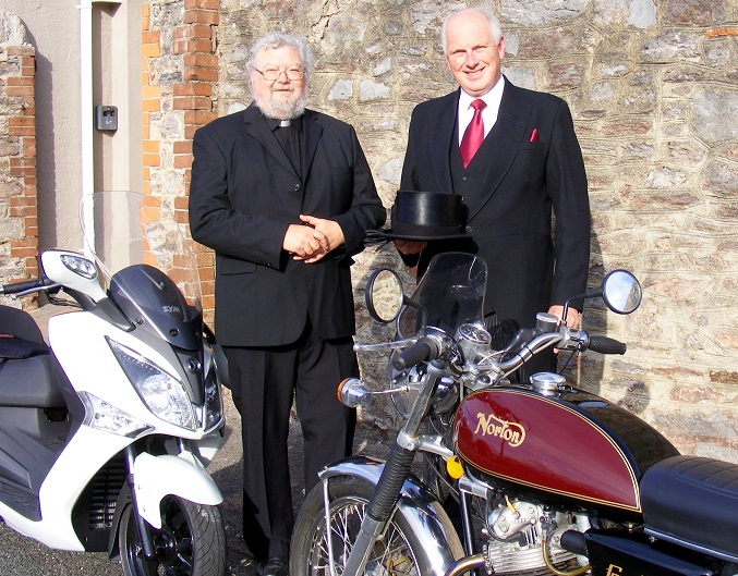Motorbike challenge for vicar and undertaker