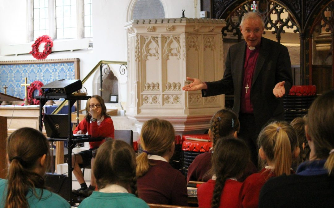 Bishop Nick attends workshop with eight primary schools