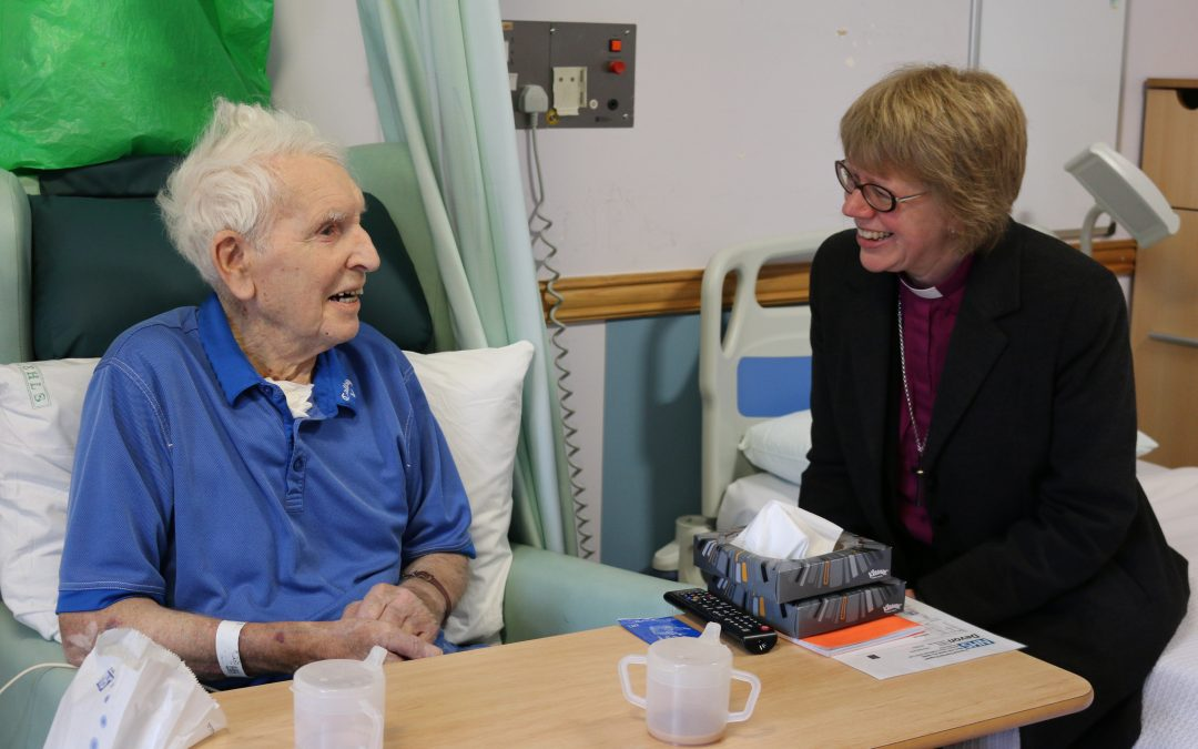 Bishop Sarah met hospital patients, school children and farmers during three day visit to Sidmouth area
