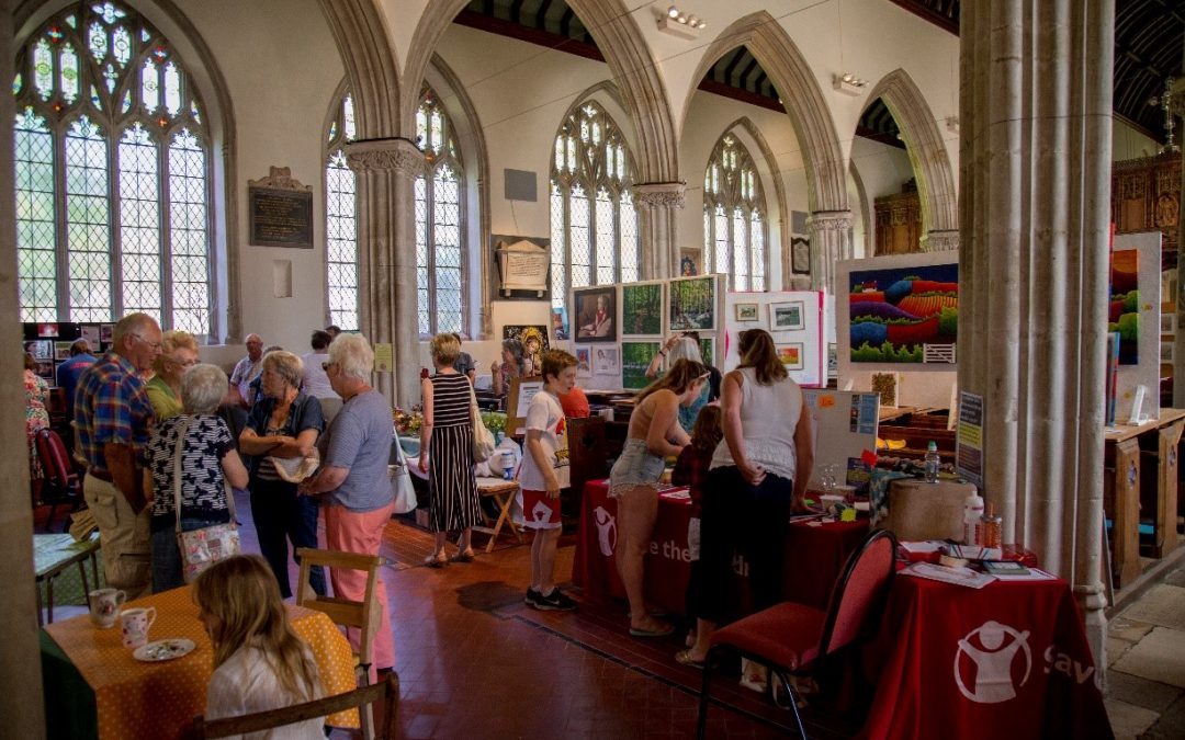 Art in the Aisles returned to All Saints' Kenton