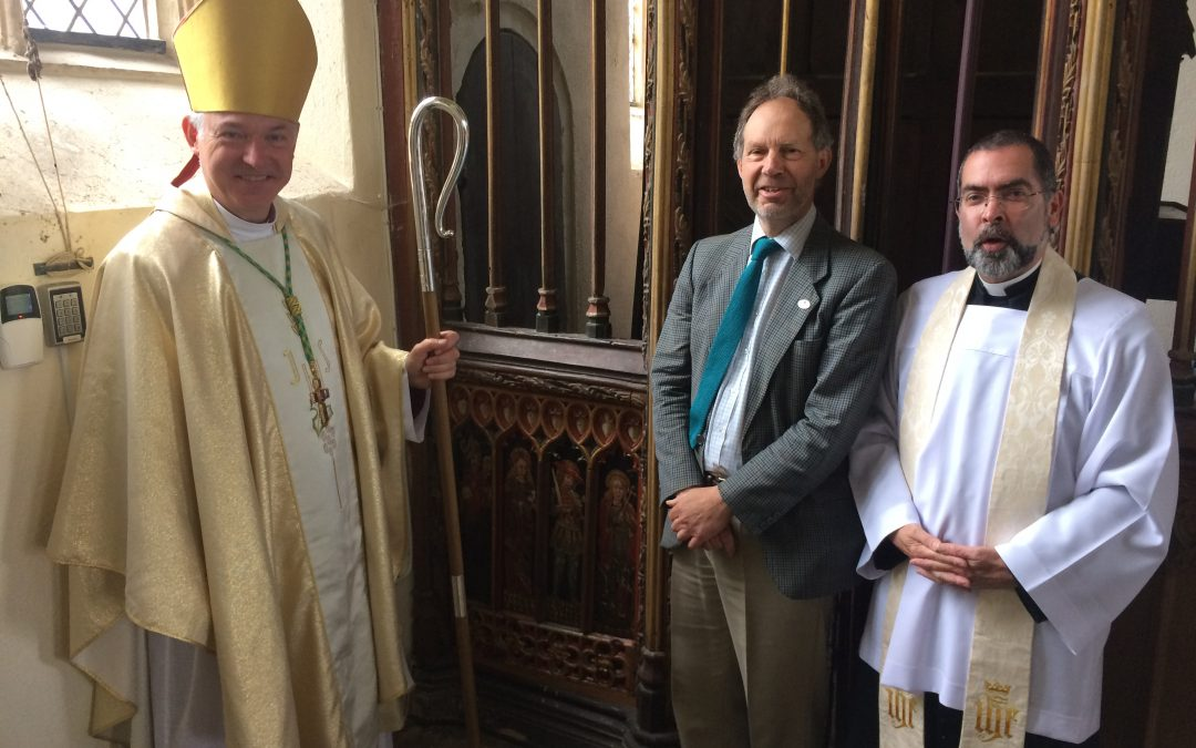 Bishop Robert re-dedicated stolen panels