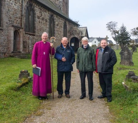 Churchyard consecrated by Bishop of Plymouth
