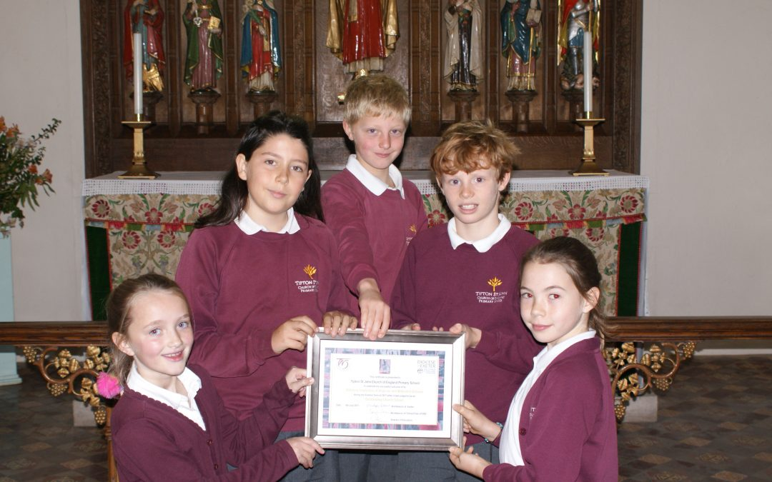 Tipton St John church primary 'outstanding' in church school inspection
