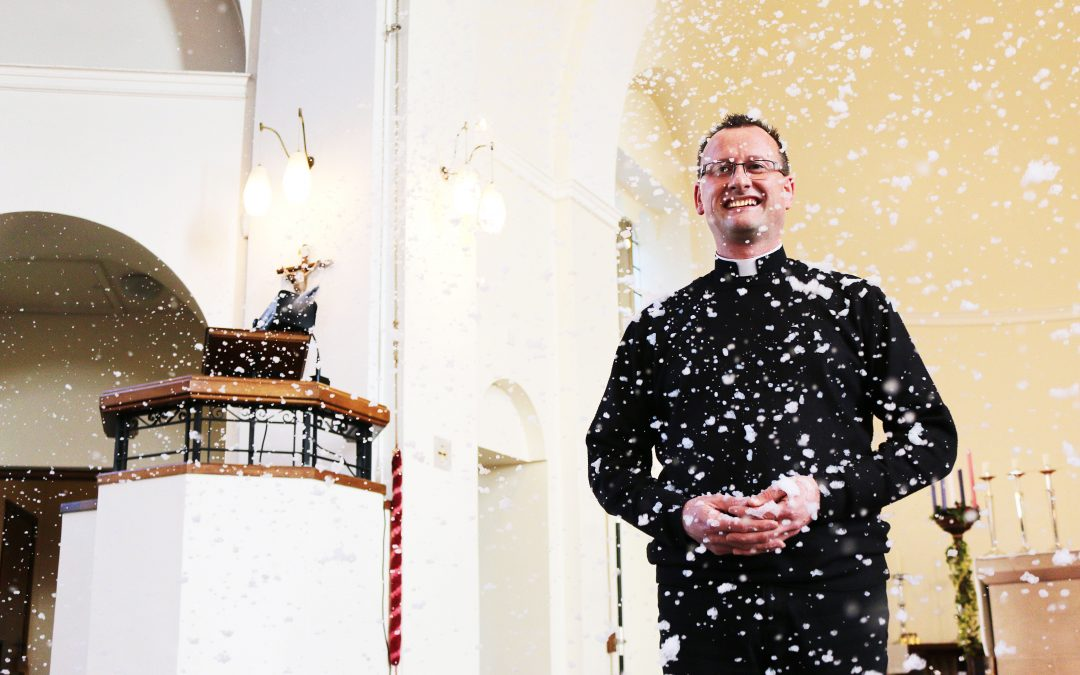 White Christmas a guarantee this year in one Devon church