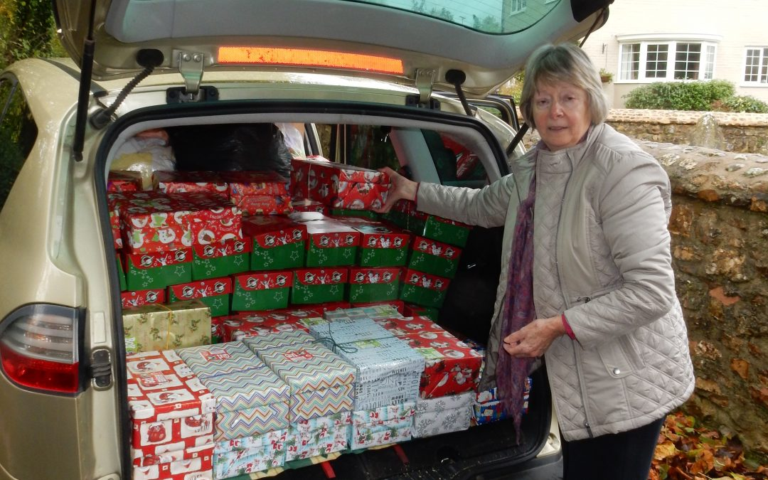 Over 100 Christmas Shoeboxes on their way