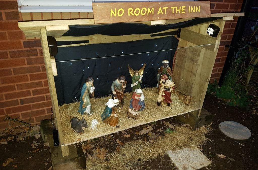 Nativity scene in community