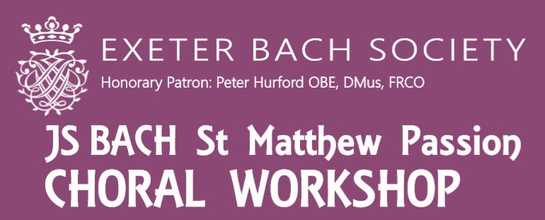 St Matthew Passion – Choral Workshop