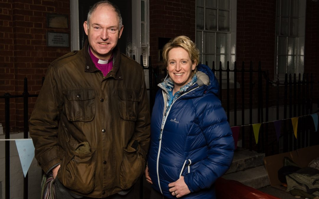 Bishop Robert at sleep-out