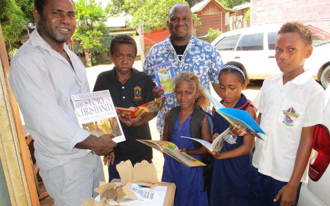 Donated books arrive in the Solomon Islands