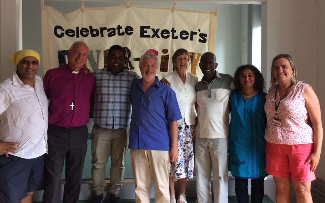 Bishop Nick visits Global Centre and St Sidwell's to discuss racism and cultural diversity in Devon