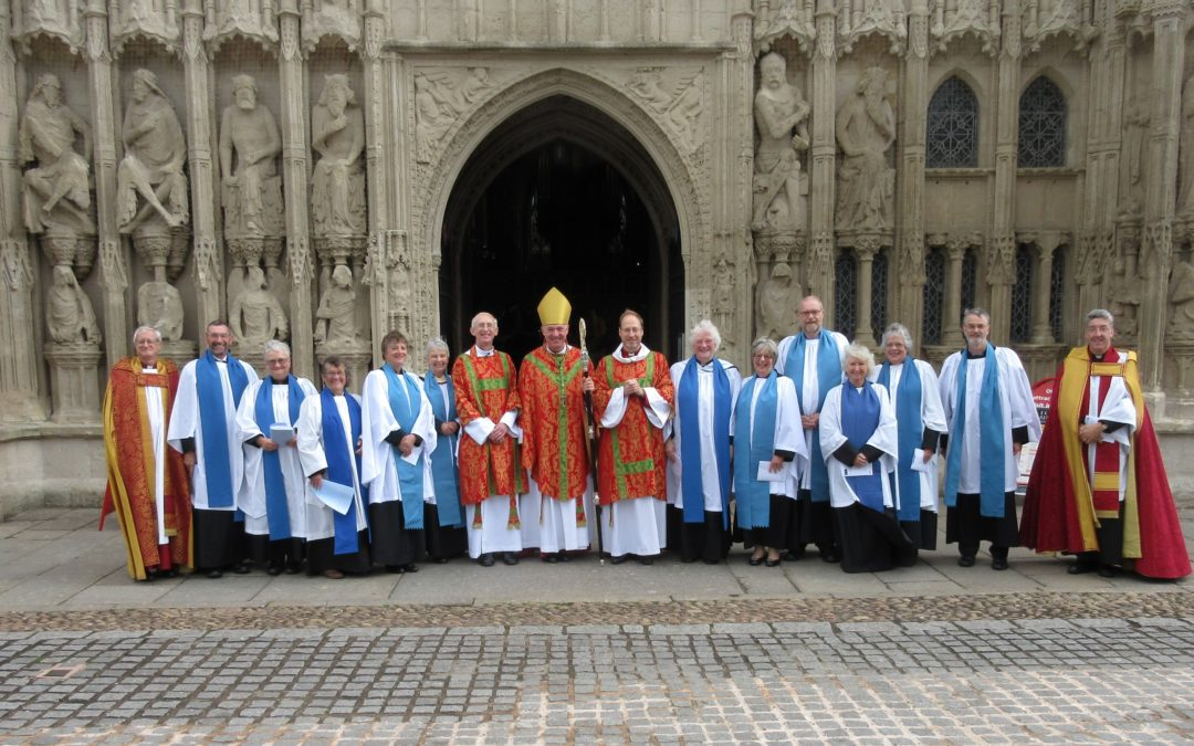 Readers licensed at Cathedral service