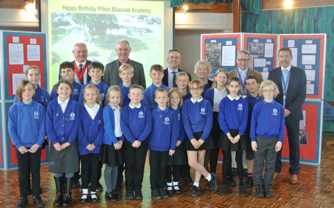 Pilton Bluecoat school celebrates 50th anniversary with Bishop Robert