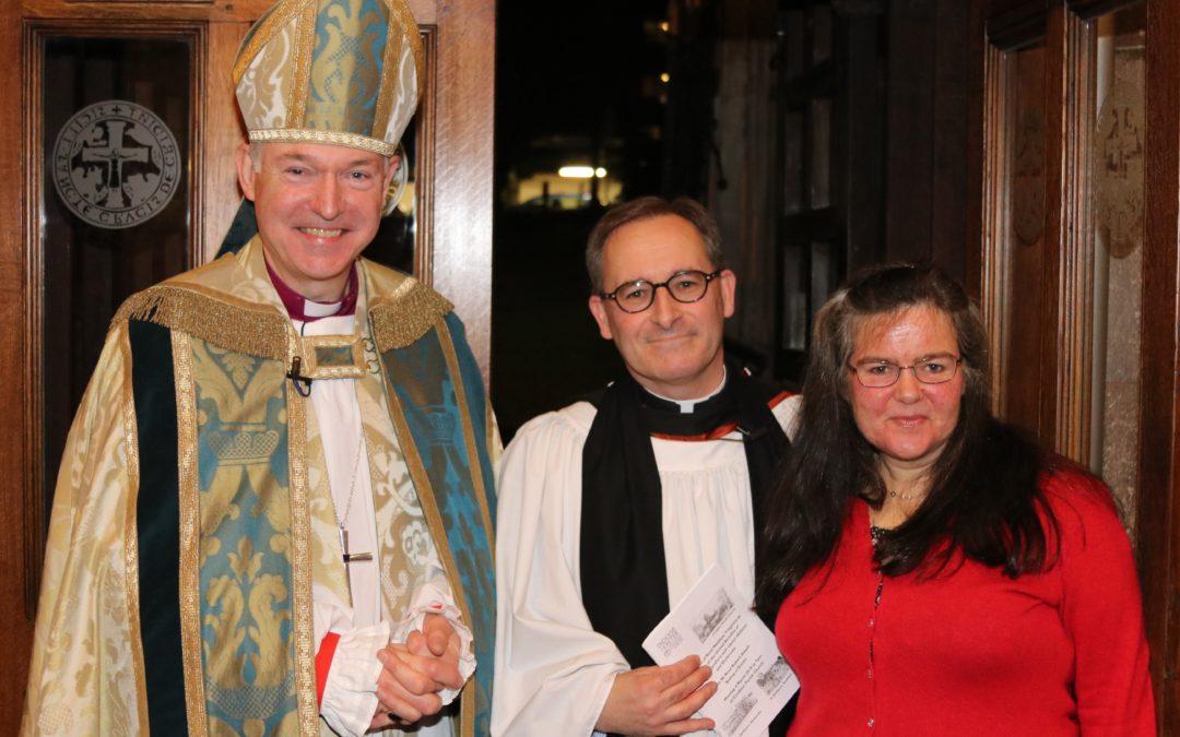 Bishop Robert installs Rev Matthew Tregenza as new rector in Crediton