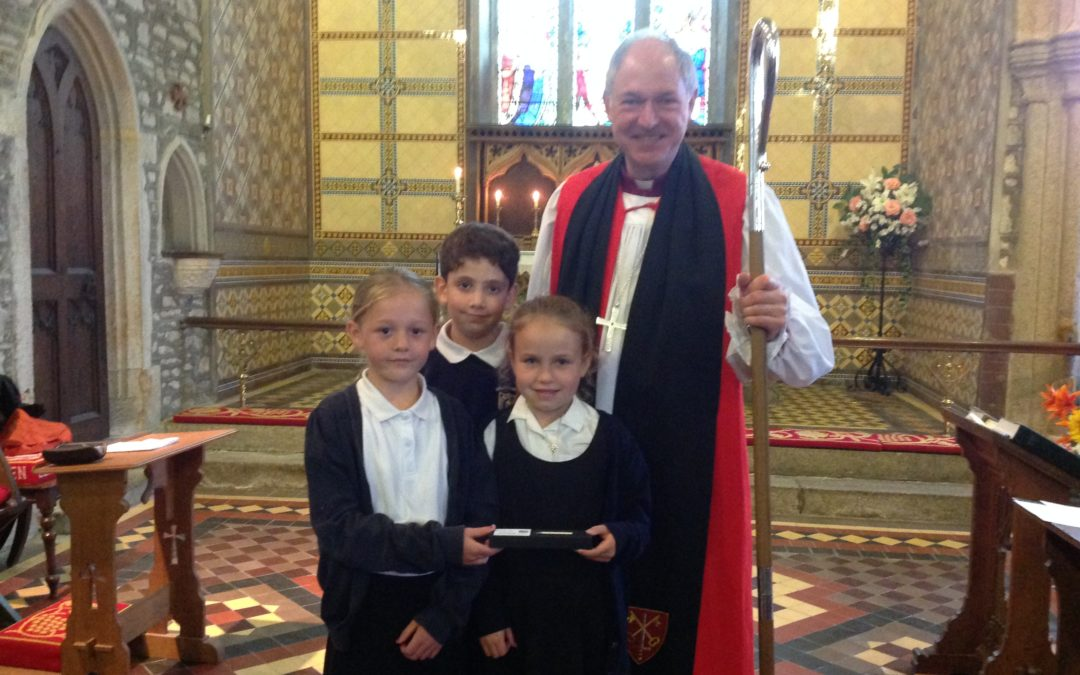 Bishop joins pupils to celebrate school's 300 years