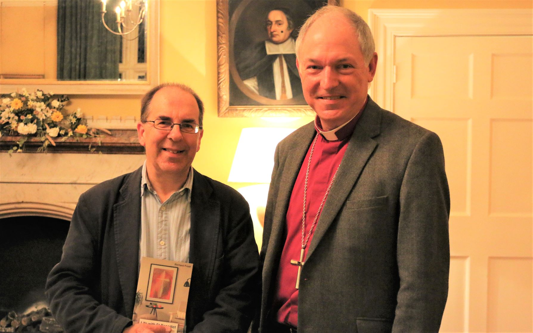 Richard Frost and Bishop Robert with the new book
