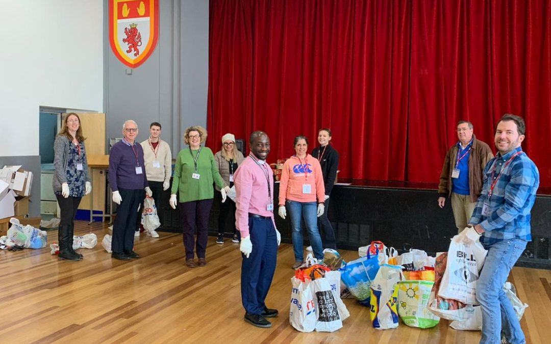 Volunteers send over 100 food parcels to students on free school meals