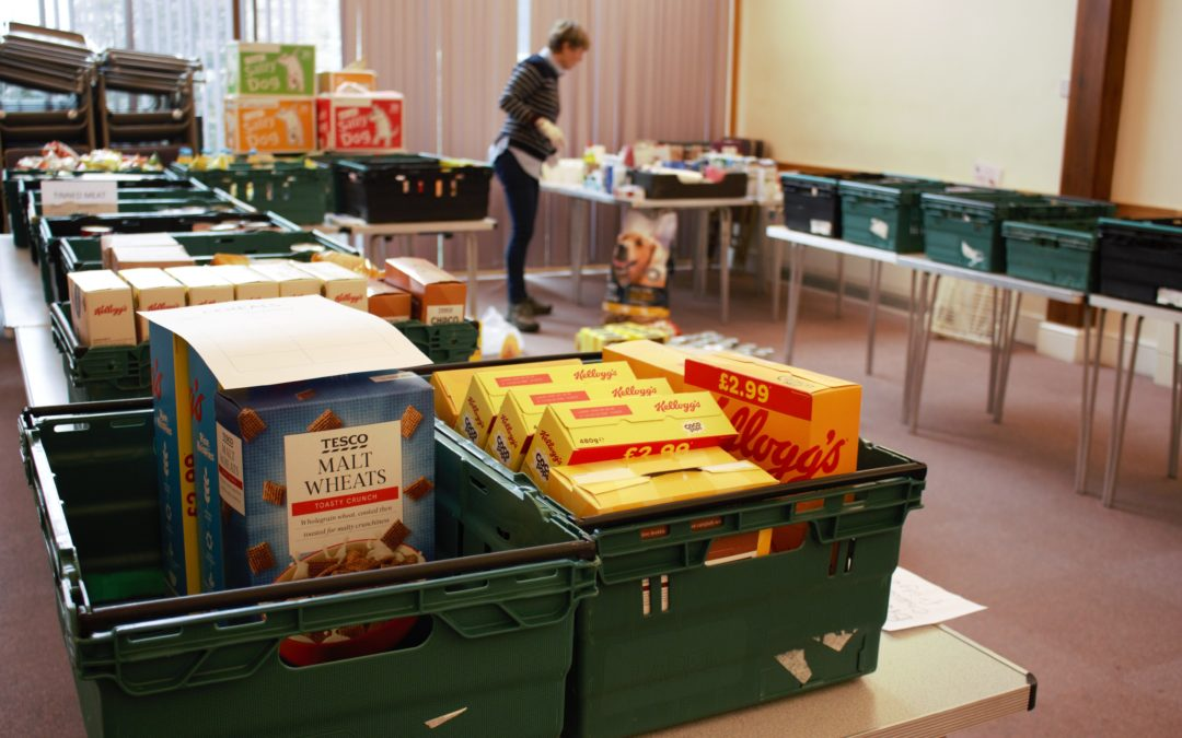 Swapping people in pews for parcels of food