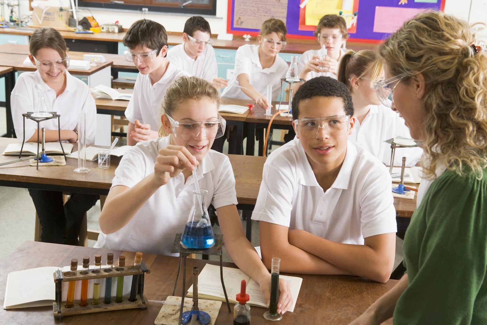 Photo: Teacher and Pupils