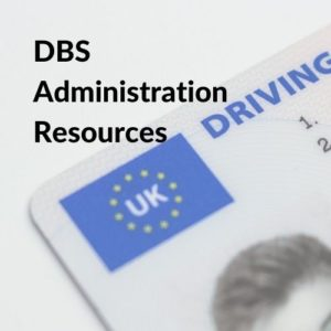 Button linking to DBS Administration Resources
