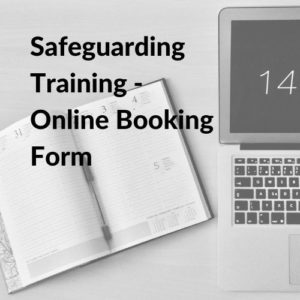 Button linking to the Safeguarding Training online booking form.