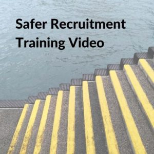 Button linking to the Safer Recruitment Training Video page.