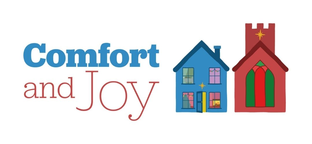 Comfort and Joy Logo showing a blue house