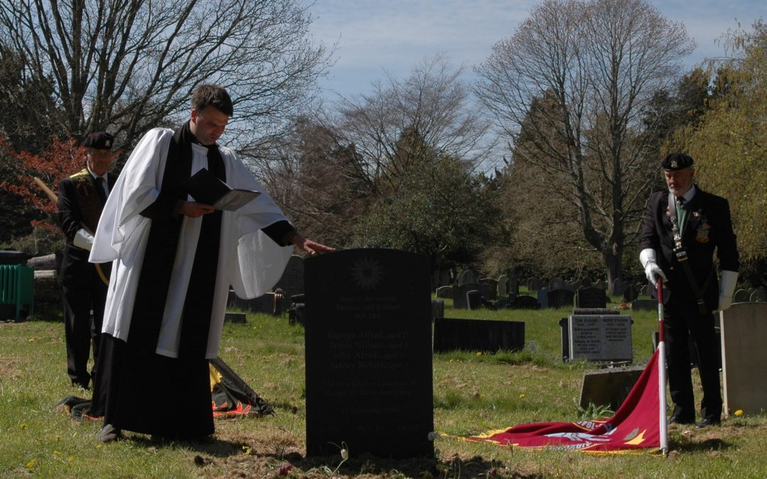 Headstone Blessing for Unmarked Grave of Brothers Killed in WW2 Exeter Air Raid