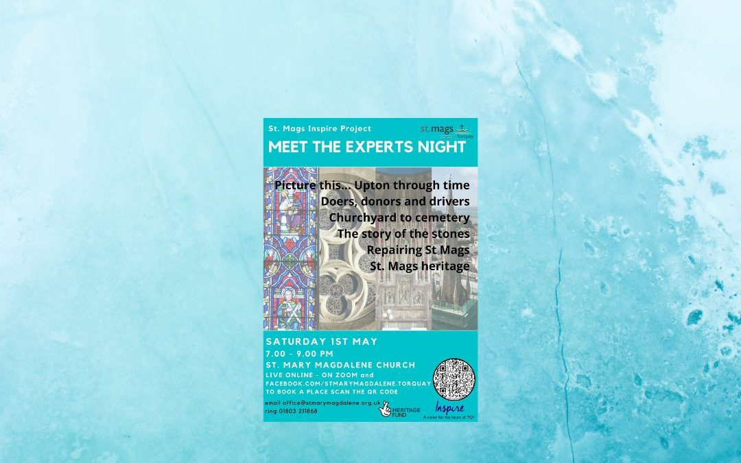 Meet the Experts evening, hosted by St Mary Magdalene Church, Torquay