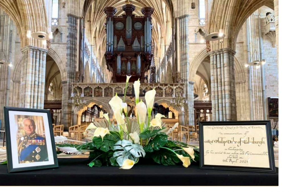 Decorated Armed Forces Officers Remember HRH Prince Philip in Exeter Cathedral Service