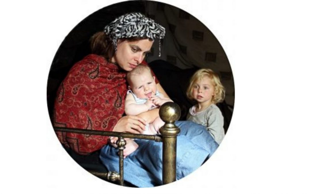 Devon Artist Recreates Exeter Cathedral Painting to Show Realities of Parenting