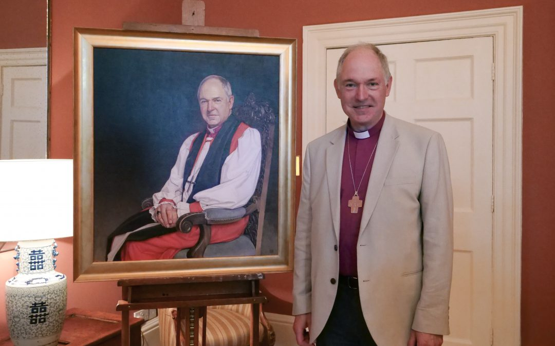 New Portrait of the Bishop of Exeter Goes on Display at Exeter Cathedral