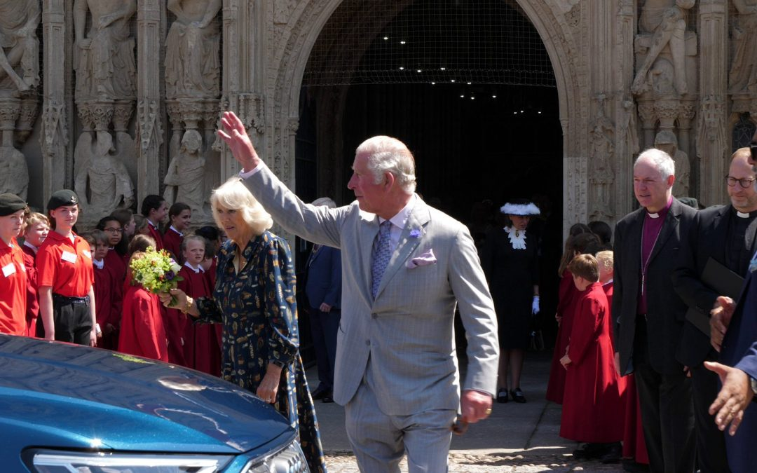 Prince of Wales and Duchess of Cornwall Visit Exeter Cathedral in First Post-Lockdown Royal Visit