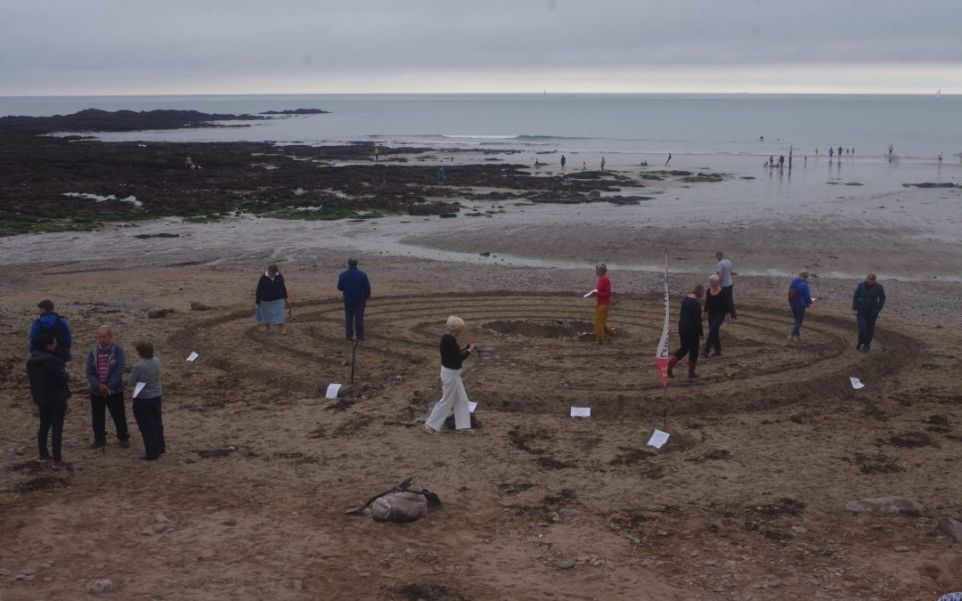 Wembury Beach Labyrinth Invites People to Pray for the Planet